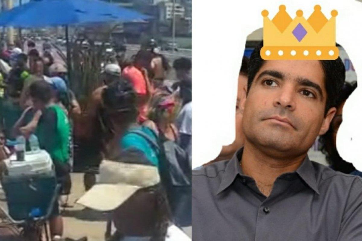 """[Vídeo do Carvalho: O povo tá de saco cheio da """"SIÊNSSIA"""" do prefeito. Ou será do Rei da Praia? ]"""