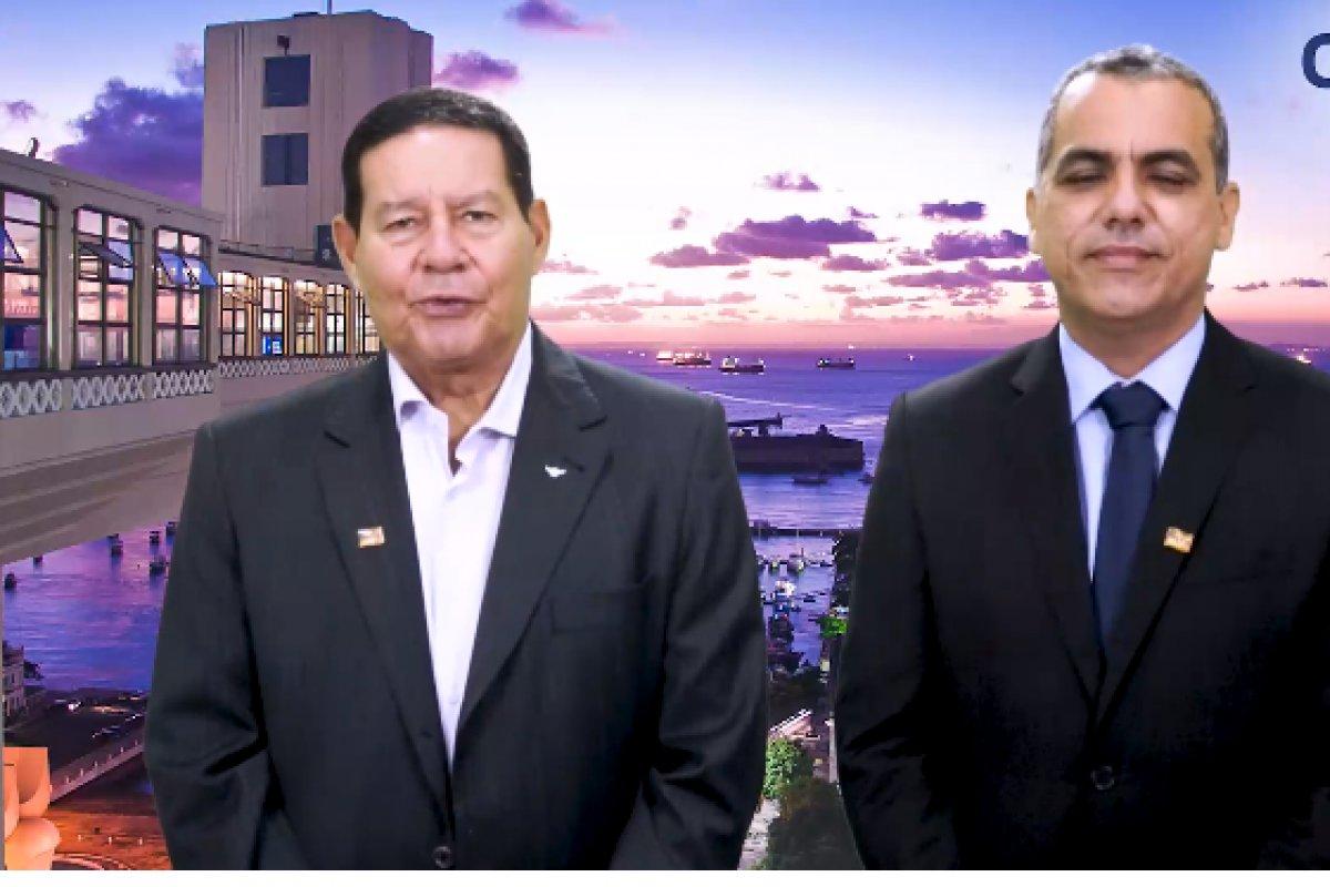 [Vídeo: Mourão afirma que Cezar Leite é o aliado de Bolsonaro em Salvador]