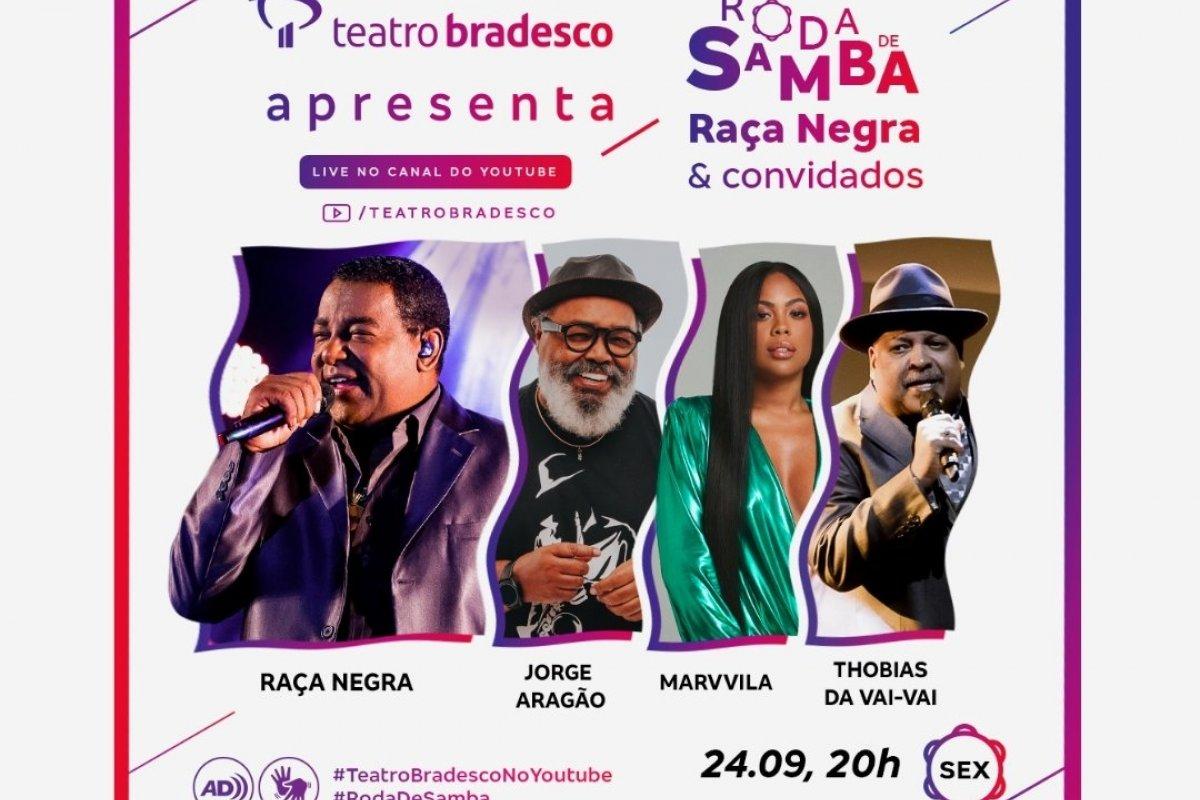 [Raça Negra realiza live, nesta sexta, no Teatro Bradesco]